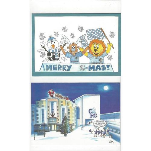 7 x Chelsea Football Club Christmas cards