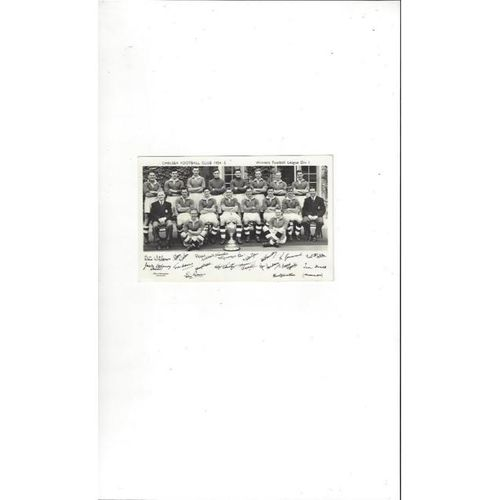 Chelsea printed Team card 1954/55
