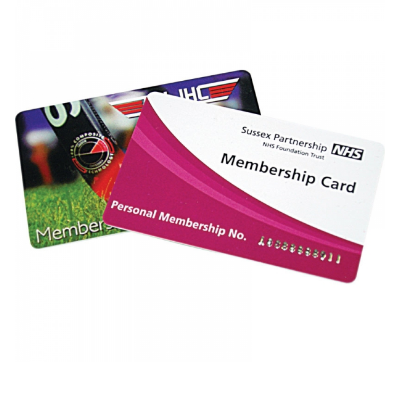 Printed Plastic Cards (86 x 54 mm)