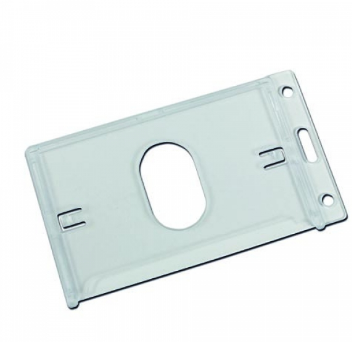 Plastic Card Holder With Thumb Ejection Slot-Portrait