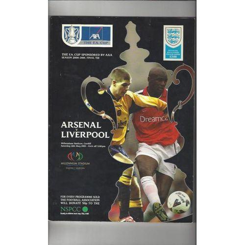 Arsenal v Liverpool FA Cup Final 2001 Football Programme
