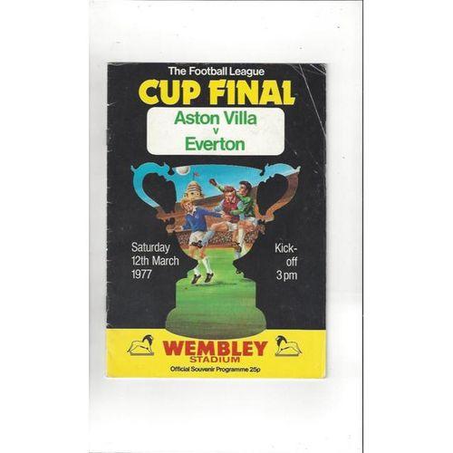 Aston Villa v Everton League Cup Final 1977 Football Programme