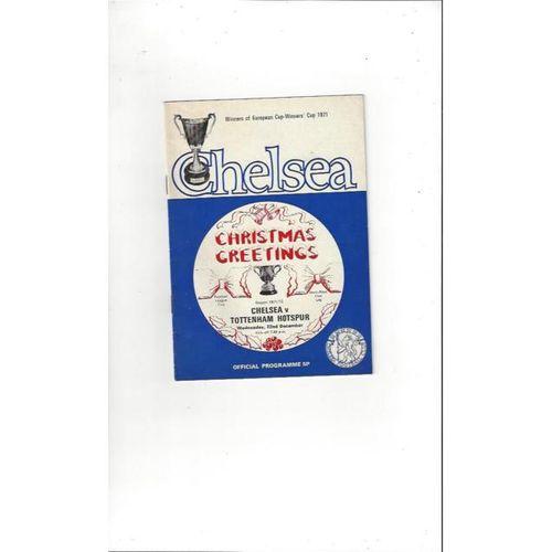 1971/72 Chelsea v Tottenham Hotspur League Cup Semi Final Football Programme