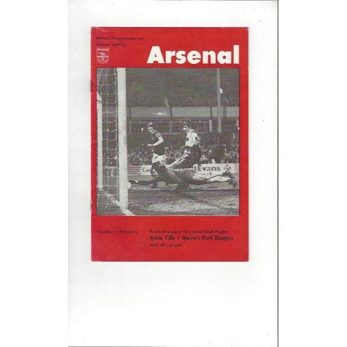 Aston Villa v Queens Park Rangers League Cup Semi Final Replay 1976/77 @ Arsenal