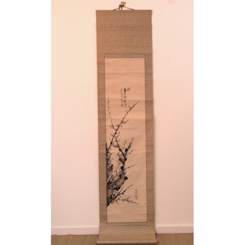 Chinese hanging scroll 200cm: Ume tree