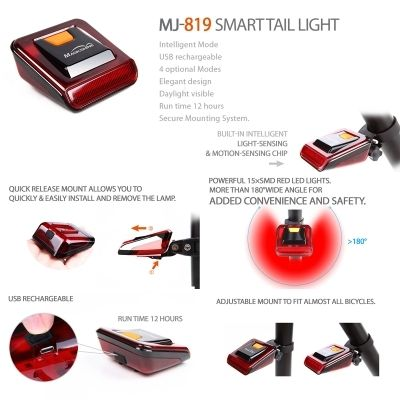 Magicshine MJ-900 + mj-819 Rear Light Set