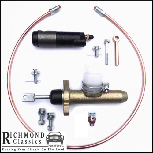 MG Midget 1500 Slave Cylinder, Clutch Master, Copper Feed Pipe - GMC1005, GSY107