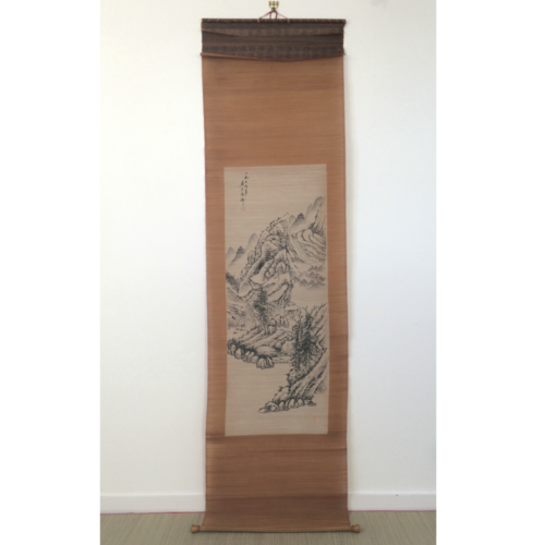 Chinese hanging scroll 200cm: mountains