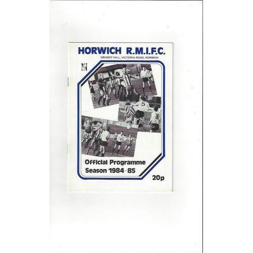 Horwich RMI v Appleby Frodingham FA Cup Football Programme 1984/85