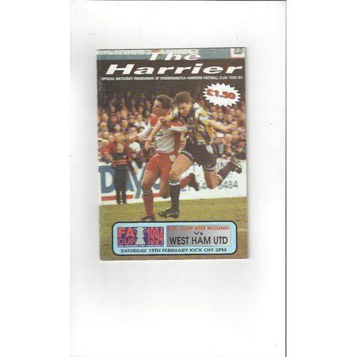 Kidderminster Harriers Football Programmes