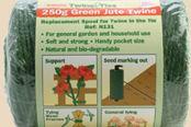 Jute twine string 250g 3ply green garden string Bosmere