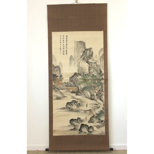 Chinese hanging scroll 184cm: moutains