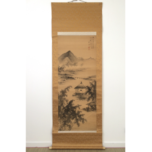 Chinese hanging scroll 186cm: mountains