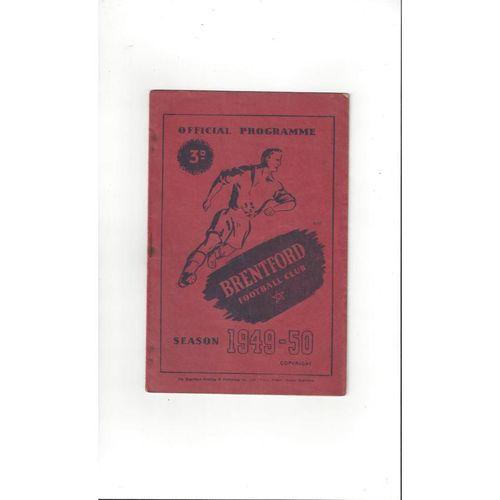 1949/50 Brentford v Barnsley Football Programme