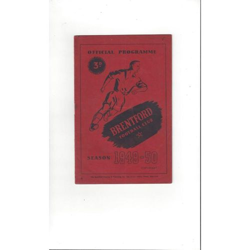 1949/50 Brentford v Chesterfield Football Programme