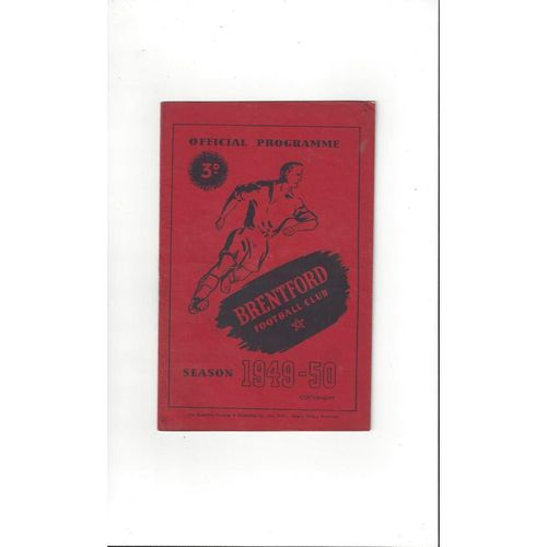 1949/50 Brentford v Chelsea FA Cup Football Programme