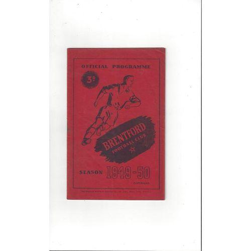 1949/50 Brentford v Sheffield United Football Programme