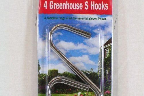 Hanging basket hooks Greenhouse S Hooks pack of 4