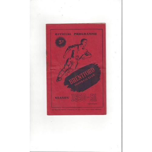 1950/51 Brentford v Cardiff City Football Programme