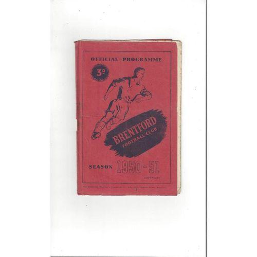 1950/51 Brentford v Hull City Football Programme