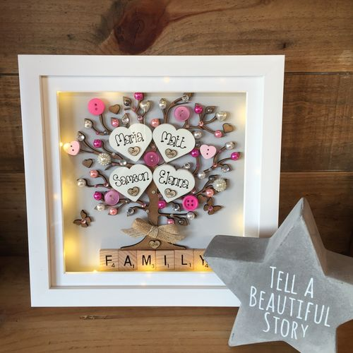 All Frames | Crafty Monkey | Personalised Golden Wedding Led Frame ...
