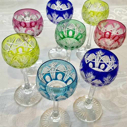 Sensational Harlequin cut to clear St Louis wine glasses