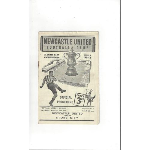 1951/52 Newcastle United v Stoke City Football Programme