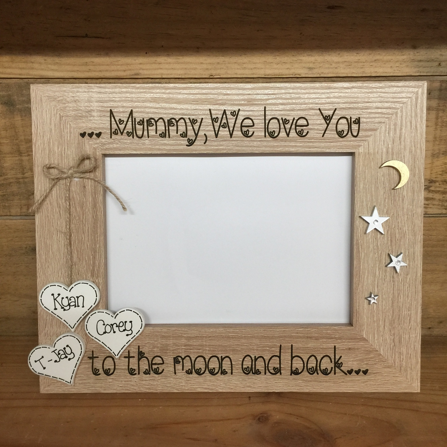 LOVE YOU TO THE MOON AND BACK engraved photo frame | Crafty Monkey ...