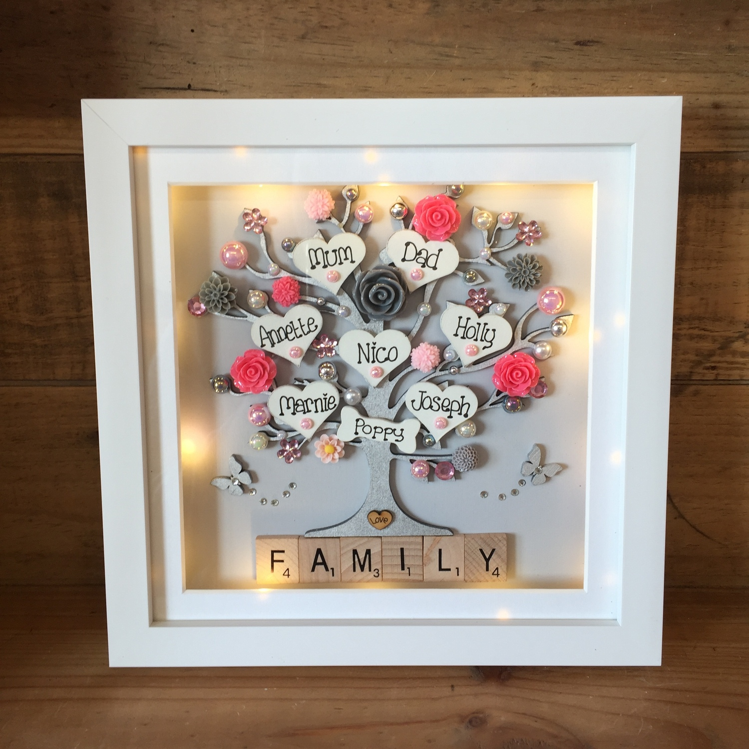 pretty as a picture floral family frame | Crafty Monkey ...