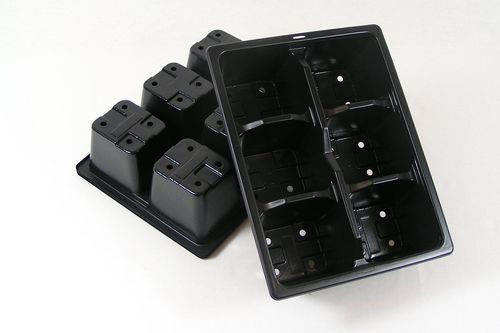 6 cell Plant plug trays multi cell bedding plant trays