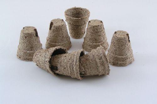 4.5cm Coir fibre Peat free Jiffy plant pots Round