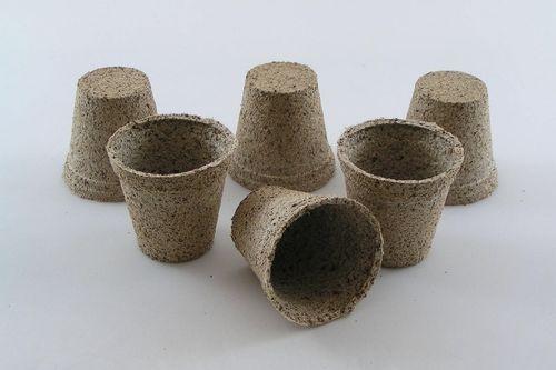 6cm Coir fibre Peat free Jiffy plant pots Round