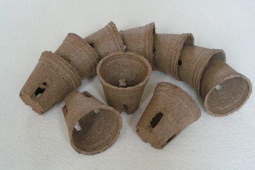 8cm Peat plant pots Jiffy Round