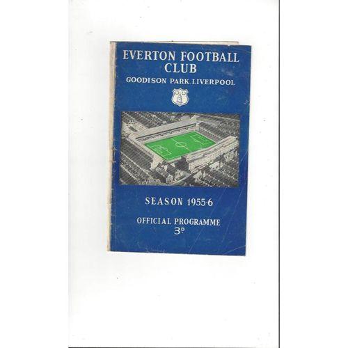 1955/56 Everton v Newcastle United Football Programme