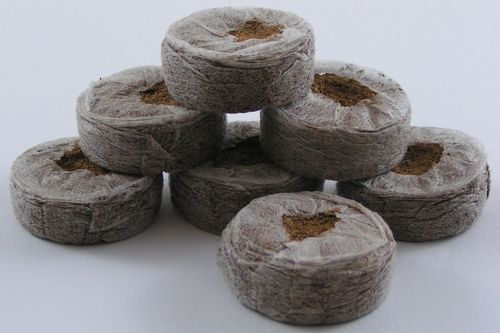 50mm Jiffy 7 coir peat free pellets compressed sowing discs