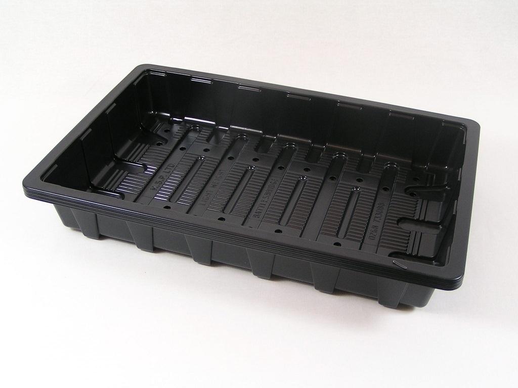 black plastic seed starting trays full standard size edensupplies plastic plant pots jiffy. Black Bedroom Furniture Sets. Home Design Ideas