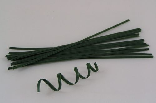 Green plastic coated wire twist plant ties 25cm 10 inch approx 200