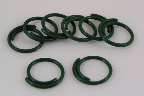 Green plastic plant support rings pack of 50 25mm diameter