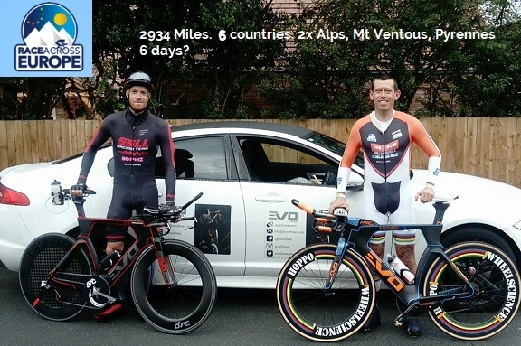Hoppo & Andy Jackson go for the 'Race Across Europe' RECORD