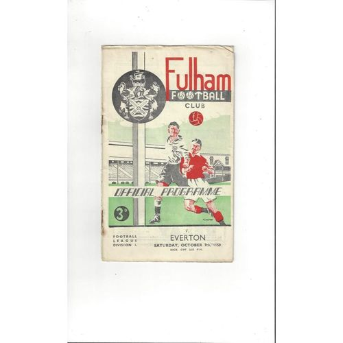 1950/51 Fulham v Everton Football Programme
