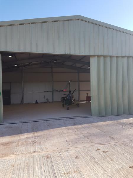 Designing and constructing an aircraft hangar