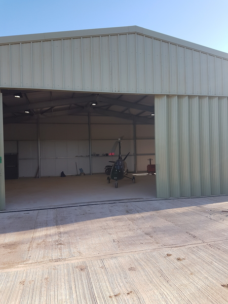 Designing and constructing an aircraft hangar