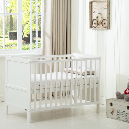 Florida Cot Bed With Mattress (White)