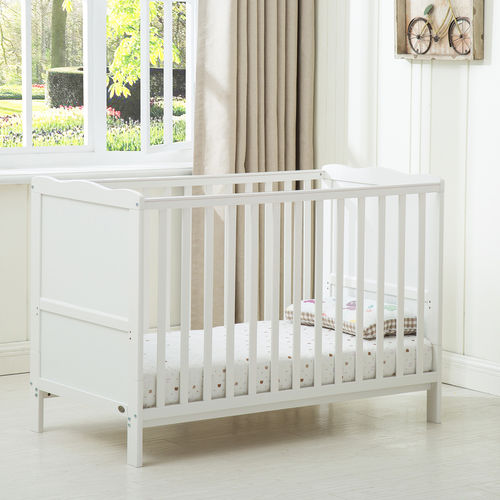 Florida Cot Bed With 140x70 Mattress (White)