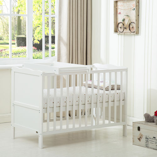 Florida Cot bed & Top Changer & Water repellent Mattress 140x70cm
