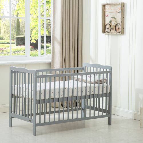 Grey Brooklyn Baby Cot Crib With Water repellent Mattress