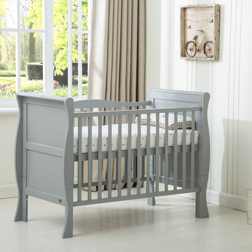 Savannah Sleigh Cot bed With Repellent Mattress Grey (120x60)