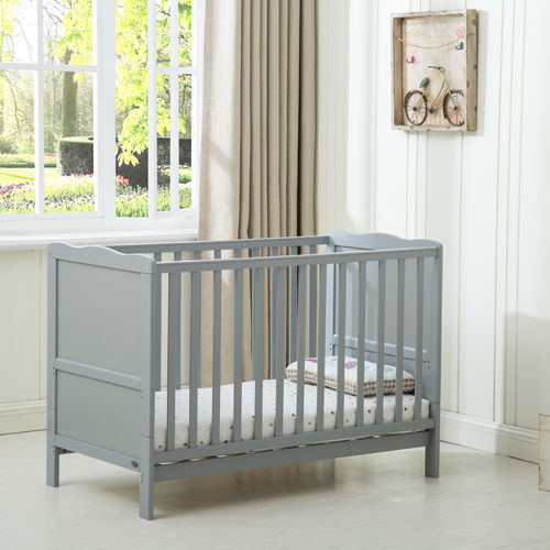 Grey Orlando Cot Bed  With Mattress (120*60)