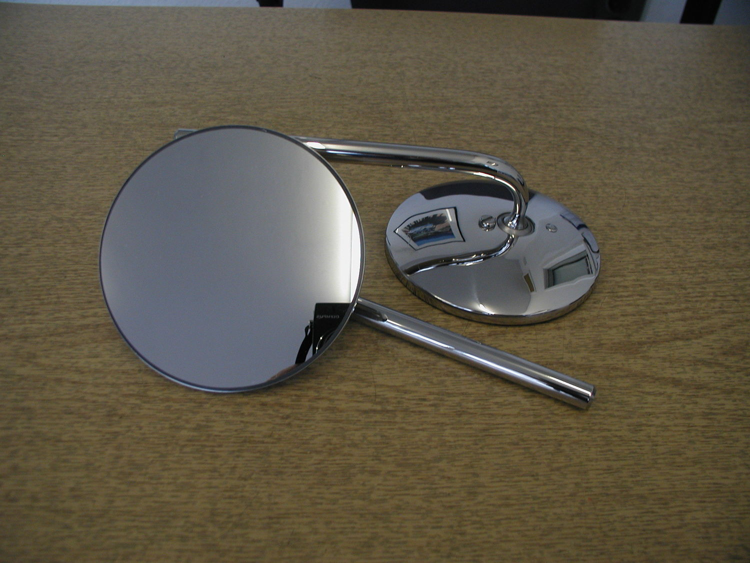 Door Mirror - Round, extending, Stainless (per pair)