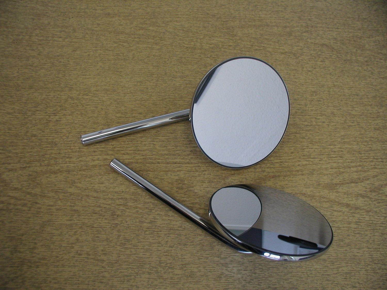 Door Mirror - Round, extending, Stainless (per pair)